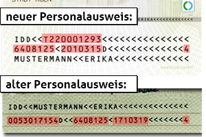 Muster Personalausweis