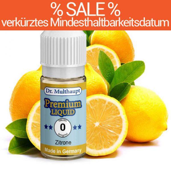 Dr. Multhaupt Zitrone Premium E-Liquid - 0 mg - SALE