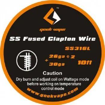 Geek Vape - SS Fused Clapton Wire 10 ft - Wickeldraht