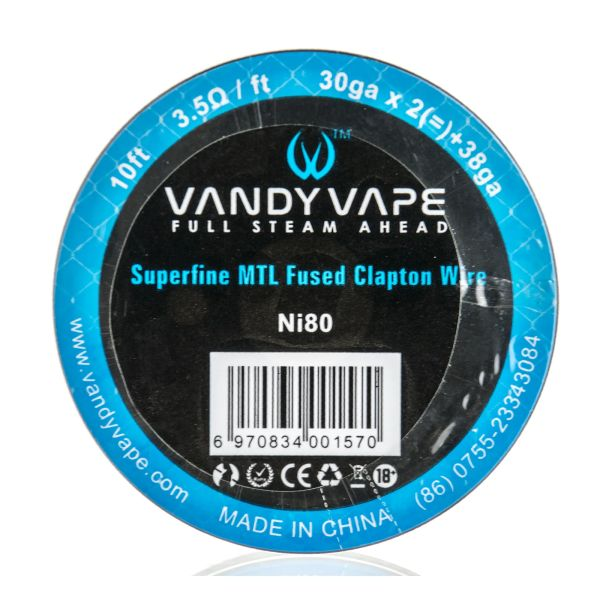 Vandy Vape Superfine MTL Ni80 Fused Clapton Wire Draht