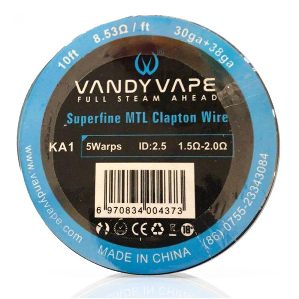 Vandy Vape KA1 Superfine MTL Clapton Wire 30GAx2(=)+38GA Wickeldraht