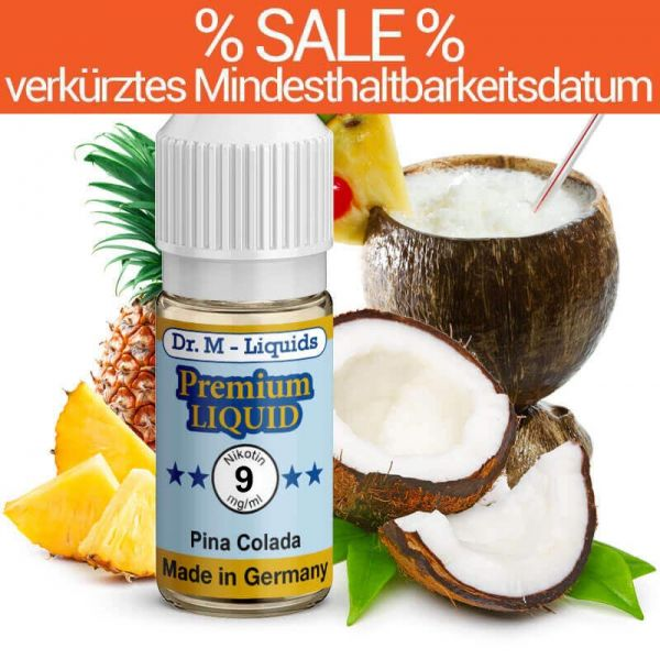 Dr. Multhaupt Pinacolada Premium E-Liquid - 9 mg - SALE