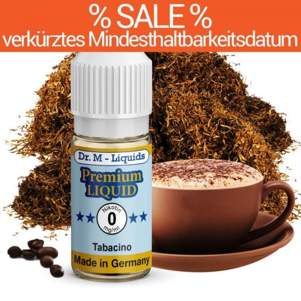 Dr. Multhaupt Tabacino Premium E-Liquid - 0 mg - SALE