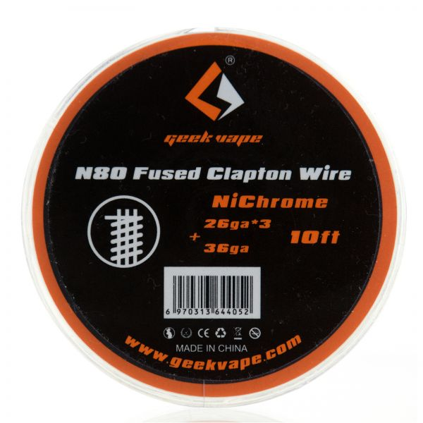 Geek Vape N80 Fused Clapton Wire NiChrome Wickeldraht 10 ft