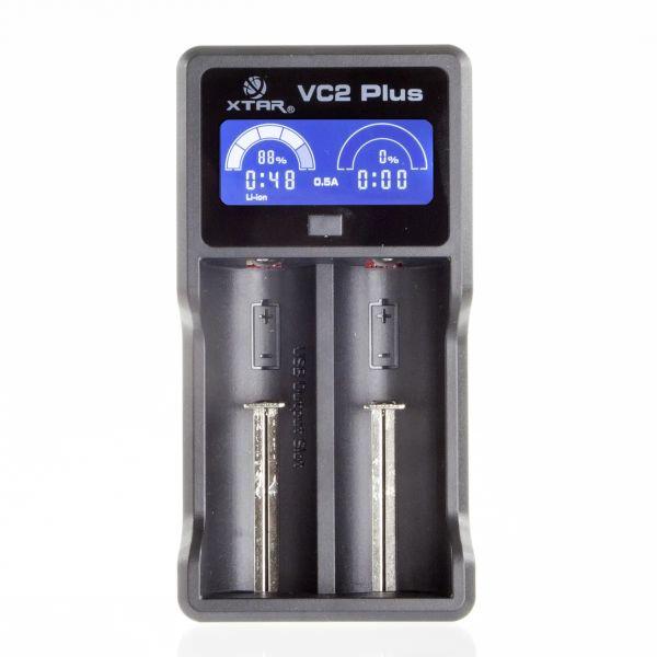 Xtar Vc2 Plus Master - Ladegeraet Fuer Li-ion Und Nimh Akkus Incl Usb Kabel
